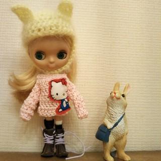 プチブライス キイロミミお帽子1点❤(人形)