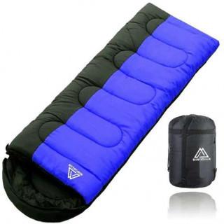 大好評♡寝袋 シュラフ 封筒型 軽量 丸洗いOK ブルー/オレンジ(寝袋/寝具)