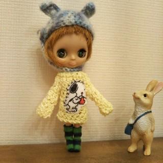 プチブライス ブルーベリーMIX お帽子❤(人形)