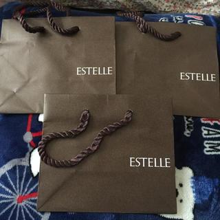 エステルドバルローズ(ESTELLE DE VALROSE)のESTELLE 紙袋三個(ショップ袋)