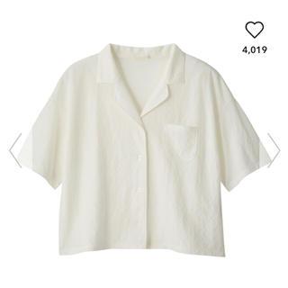 ジーユー(GU)の今季完売!GU オープンカラーシャツ (5分丈) 開襟シャツ(シャツ/ブラウス(半袖/袖なし))