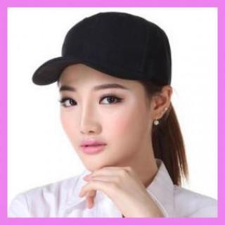 【数量限定価格】キャップ 野球 帽子 つば付き ブラック シンプル カジュアル(キャップ)