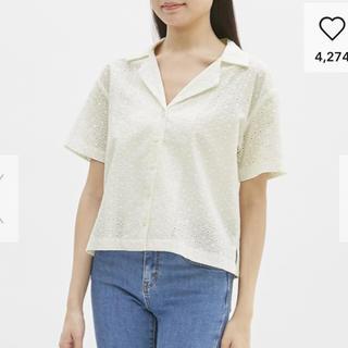 ジーユー(GU)のGU レースオープンカラーシャツ(シャツ/ブラウス(半袖/袖なし))