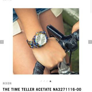 ニクソン(NIXON)のNIXON 腕時計【タイムテラーアセテート】(腕時計)