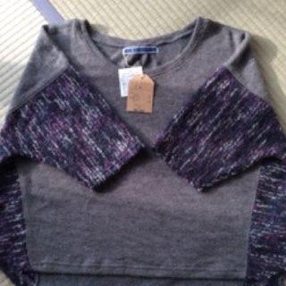 ジエンポリアム(THE EMPORIUM)のジ エンポリアム  紫 グレーニット(ニット/セーター)