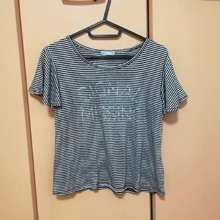 ライトオン(Right-on)のロゴボーダーTシャツ(Tシャツ(半袖/袖なし))