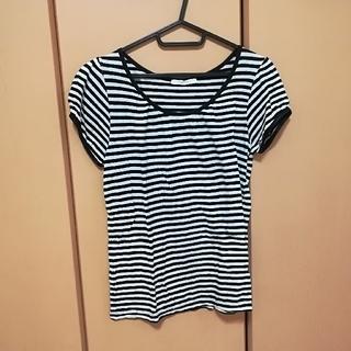 シマムラ(しまむら)のパフスリーブのボーダーTシャツ(Tシャツ(半袖/袖なし))