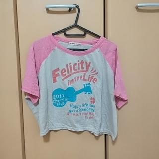 ライトオン(Right-on)の袖がピンクのロゴTシャツ(Tシャツ(半袖/袖なし))