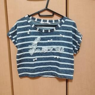 トゥララ(TRALALA)のロゴ入りボーダーTシャツ(Tシャツ(半袖/袖なし))