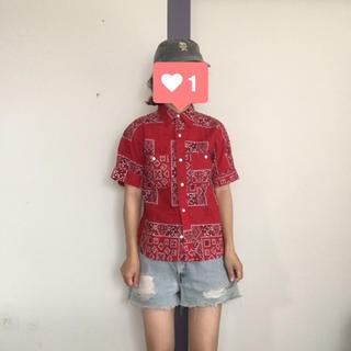 ビームスボーイ(BEAMS BOY)のBEAMS BOY ペイズリー柄半袖シャツ(シャツ/ブラウス(半袖/袖なし))