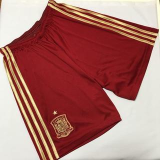 アディダス(adidas)のadidas スペイン代表 ユニフォーム パンツ 赤 サッカーパンツ Mサイズ(ウェア)