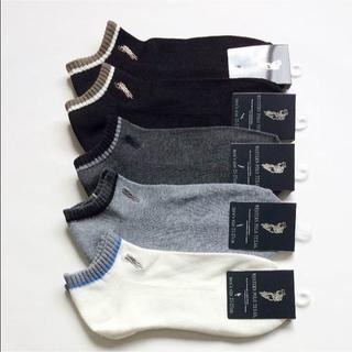 【送料無料】メンズ ポロ靴下 底パイルアンクルソックス(無地)25-27cm(ソックス)