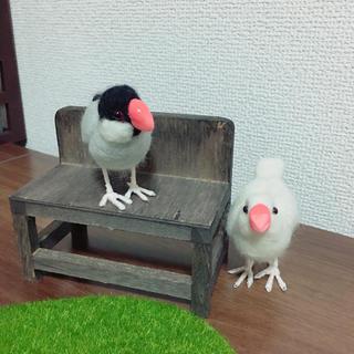 羊毛フェルト 黒文鳥(ぬいぐるみ)