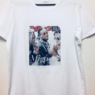 MIGOS Tシャツ プリント フォトTシャツ rapT(その他)