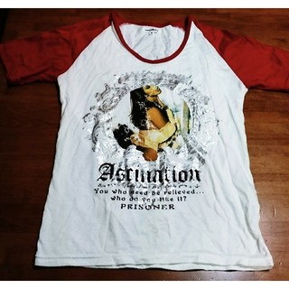 セマンティックデザイン(semantic design)のsemantic design 赤×白 Tシャツ M(Tシャツ/カットソー(半袖/袖なし))