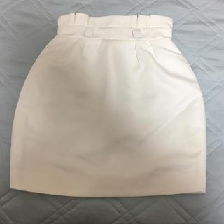 ロジータ(ROJITA)のcouture by ROJITA 台形スカート タイトスカート ホワイト 新品(ミニスカート)