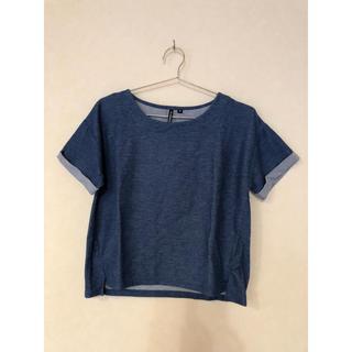 シマムラ(しまむら)のデニム風Tシャツ《しまむら》(Tシャツ(半袖/袖なし))