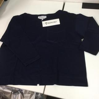 アメリカーナ(AMERICANA)の新品タグ付き Americana アメリカーナ  ロンT   ワンサイズ 紺色(Tシャツ(長袖/七分))