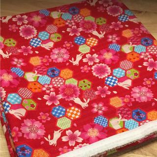 ドビー織り うさぎ柄 和柄 生地 綿100% 長さ300cm (生地/糸)