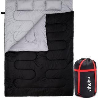 大人気Ohuhu 寝袋 封筒型 2人用 丸洗いokシュラフ (寝袋/寝具)