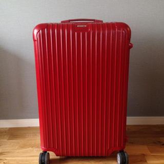 リモワ(RIMOWA)のリモワ サルサ スーツケース 廃盤 赤 82L(旅行用品)