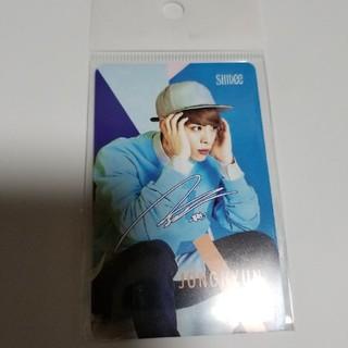シャイニー(SHINee)のSHINee ジョンヒョン T-money 韓国 交通カード(アイドルグッズ)