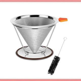 コーヒードリッパー 蜂窩状 ステンレスフィルター(コーヒーメーカー)