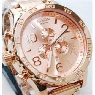 ニクソン(NIXON)の大人気 《新品》 ニクソン メンズ ウォッチ 化粧箱付 ピンク A083-89(腕時計)