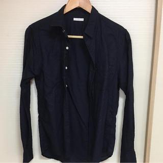 ジーユー(GU)のジーユー GU 麻素材シャツ ネイビー(シャツ)