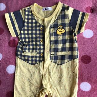ベイビー(Baby!)の黄色ロンパース 男女兼用60cm(ロンパース)