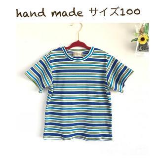 サイズ100 ボーダー Tシャツ カットソー デイリーウェア(Tシャツ/カットソー)
