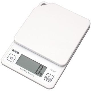 タニタ デジタルクッキングスケール 1kg/1g ホワイト(調理機器)