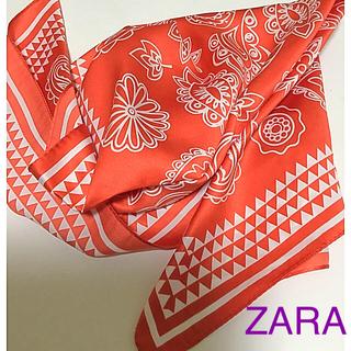 ザラ(ZARA)のZARA スカーフ(ポリエステル&綿)2枚組★(バンダナ/スカーフ)