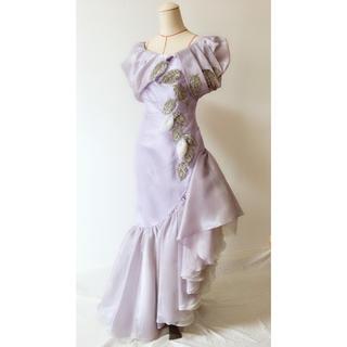 タダシショウジ(TADASHI SHOJI)のライラック 葉っぱモチーフドレス(ロングドレス)