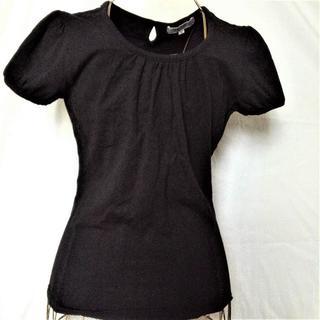 シマムラ(しまむら)の【しまむら  カットソーTシャツ 黒 Mサイズ セオリア】 (Tシャツ(半袖/袖なし))
