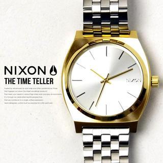ニクソン(NIXON)のNIXON TIME TELLER SILVER&GOLD(腕時計(アナログ))