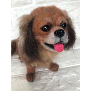 羊毛フェルト ハンドメイド  オーダー品 ミックス犬 (ぬいぐるみ)