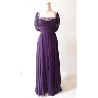 タダシショウジ(TADASHI SHOJI)のシルクオフショルダー ドレス(ロングドレス)
