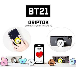 ボウダンショウネンダン(防弾少年団(BTS))のbt21  スマホ iPhone グリップ(アイドルグッズ)