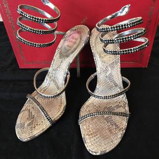 レネカオヴィラ(RENE CAOVILLA)の美品 レネカオヴィラ サンダル 21.5cm 22.5-23cm向き 定価15万(サンダル)