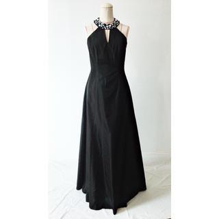 タダシショウジ(TADASHI SHOJI)のビジュー ホルターネック ドレス(ロングドレス)