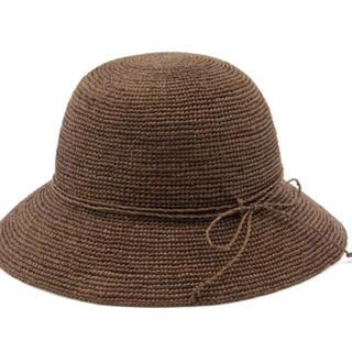ムジルシリョウヒン(MUJI (無印良品))のサイズ調節できるラフィアたためるキャペリン (麦わら帽子/ストローハット)