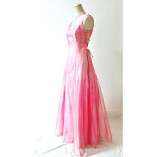 タダシショウジ(TADASHI SHOJI)のバックコンシャス オーガンジードレス(ロングドレス)