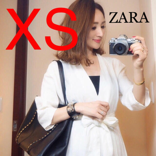 ザラ(ZARA)の新品♡ZARAベルトリネンワンピース(ロングワンピース/マキシワンピース)