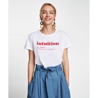 ザラ(ZARA)のZARA  * テキスト Tシャツ S(Tシャツ(半袖/袖なし))