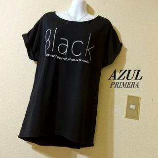 アズールバイマウジー(AZUL by moussy)のAZUL PRIMERAアズール♡レース英字ロゴTシャツ(Tシャツ(半袖/袖なし))