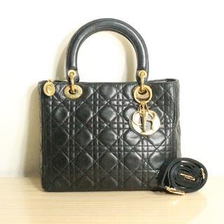 クリスチャンディオール(Christian Dior)のディオール レディディオール カナージュ マトラッセ ブラック(ショルダーバッグ)