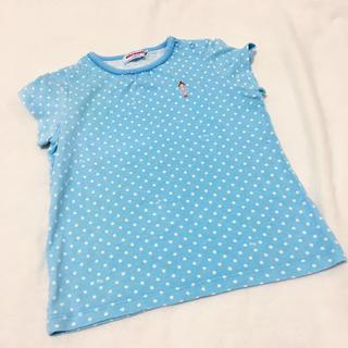 ミキハウス(mikihouse)のサイズ90 ミキハウス 女の子ドットTシャツ(Tシャツ/カットソー)
