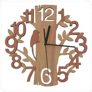 【大人気】 GIFT GARDEN 掛け時計 時計 木製 鳥と(その他)