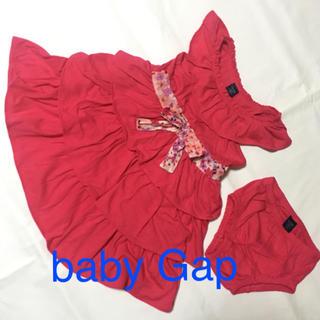 ベビーギャップ(babyGAP)のbaby Gap 80 ベビードレス ワンピース セットアップ 女の子(ワンピース)